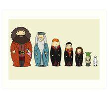 Potter-themed Nesting Dolls Art Print