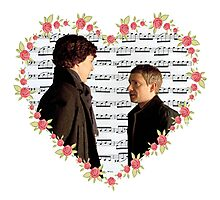 Johnlock-Heart (Two) Photographic Print