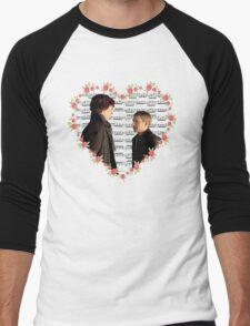 Johnlock-Heart (Two) Men's Baseball ¾ T-Shirt
