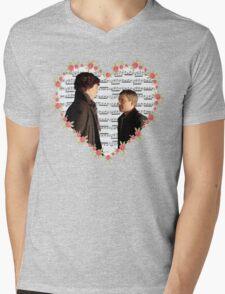 Johnlock-Heart (Two) Mens V-Neck T-Shirt
