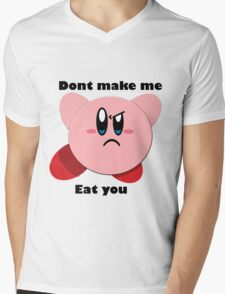 Kirby will eat you Mens V-Neck T-Shirt