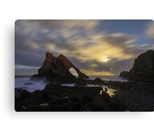 Moonlight over Bow Fiddle Rock Canvas Print