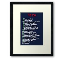 To Do: Framed Print