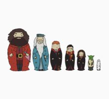 Potter-themed Nesting Dolls Kids Tee