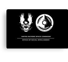 UNSC ONI Black logo Canvas Print