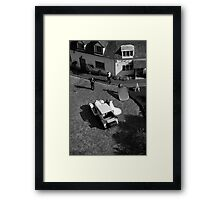 wedding from above Framed Print