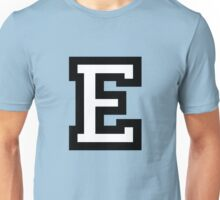 Letter E two-color Unisex T-Shirt
