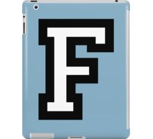 Letter F two-color iPad Case/Skin