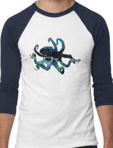 Deep Blue Octopus Men's Baseball ¾ T-Shirt