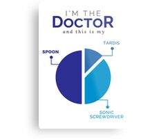 I´m the Doctor and this is my spoon Metal Print
