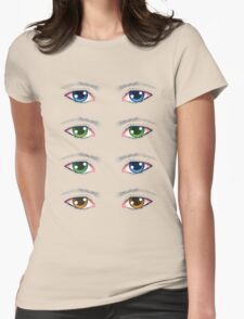 Colorful Male Eyes Womens Fitted T-Shirt