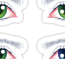 Colorful Male Eyes Sticker