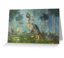 Dinosaur Warrior Greeting Card