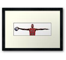 Michael Jordan Nike Wings, Earth Ball Space Jam Framed Print