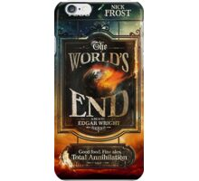 Worlds end iPhone Case/Skin