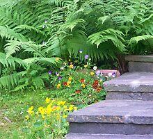 Garden Stairs by Karen  Rubeiz