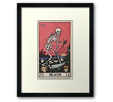 Death Tarot Framed Print