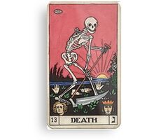 Death Tarot Metal Print