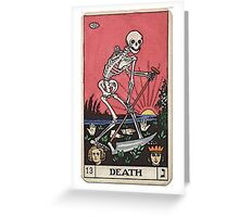 Death Tarot Greeting Card