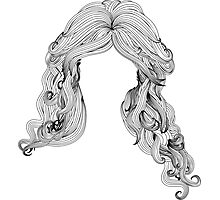 Curly hair style in black and white Photographic Print