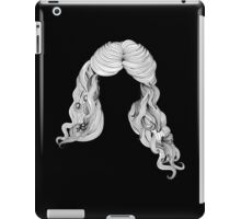 Curly hair style in black and white 2 iPad Case/Skin