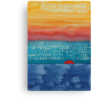 A New Day Dawns original painting Canvas Print