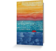 A New Day Dawns original painting Greeting Card
