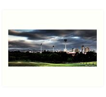 Adelaide from Montefiore Hill. Art Print
