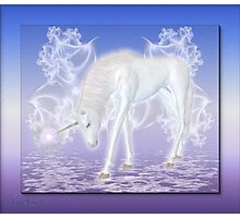 Tenderness .. an enchanting unicorn Photographic Print