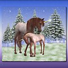 Winter born .. a unicorns tale by LoneAngel