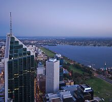 Perth on Dusk by Claire  Farley