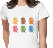 Curly Hair Styles 2 Womens Fitted T-Shirt