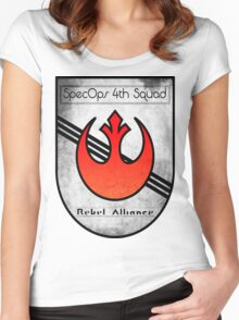 SpecOps Squad 4th, Rebel Alliance.  Women's Fitted Scoop T-Shirt