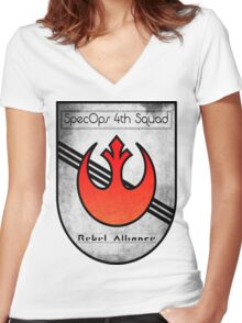 SpecOps Squad 4th, Rebel Alliance.  Women's Fitted V-Neck T-Shirt