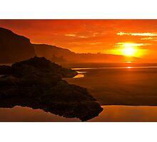 Blazing sunrise Photographic Print