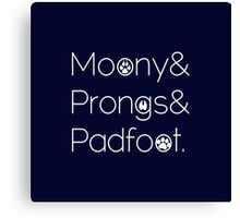 Moony & Pongs & Padfoot Canvas Print