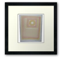 Untitled Manmade (failed printed figure) Framed Print