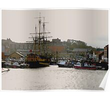 Grand Turk in Whitby Harbour Poster