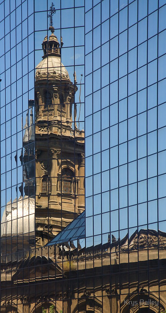 Cathedral Reflection, Santiago by Krys Bailey