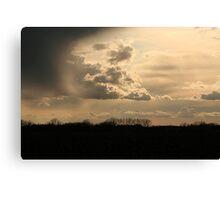 There IS a silver lining behind every cloud! Canvas Print