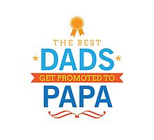 The Best Dads Get Promoted to Papa Photographic Print