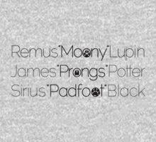 MoonyPadfootProngs(black) Kids Clothes