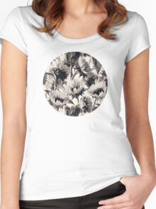 Sunflowers in Soft Sepia Women's Fitted Scoop T-Shirt
