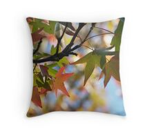 Sweetgum Leaves in October Throw Pillow