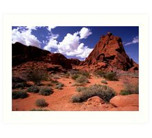 The Valley of Fire Art Print