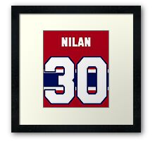 Knuckles Nilan #30 - red jersey Framed Print