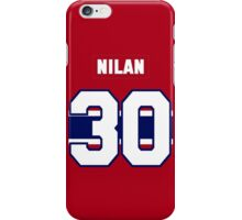 Knuckles Nilan #30 - red jersey iPhone Case/Skin