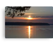 """ Ripples Under Sunset "" Canvas Print"