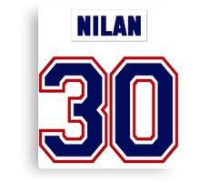 Knuckles Nilan #30 - white jersey Canvas Print