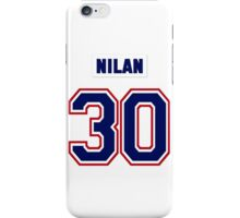 Knuckles Nilan #30 - white jersey iPhone Case/Skin